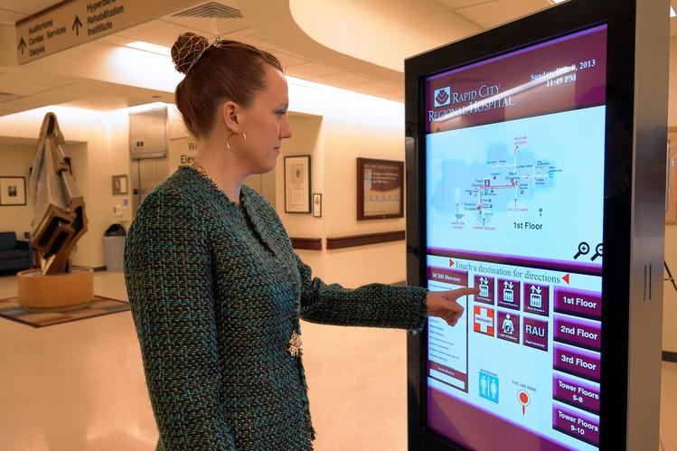 Digital signage hospital layout
