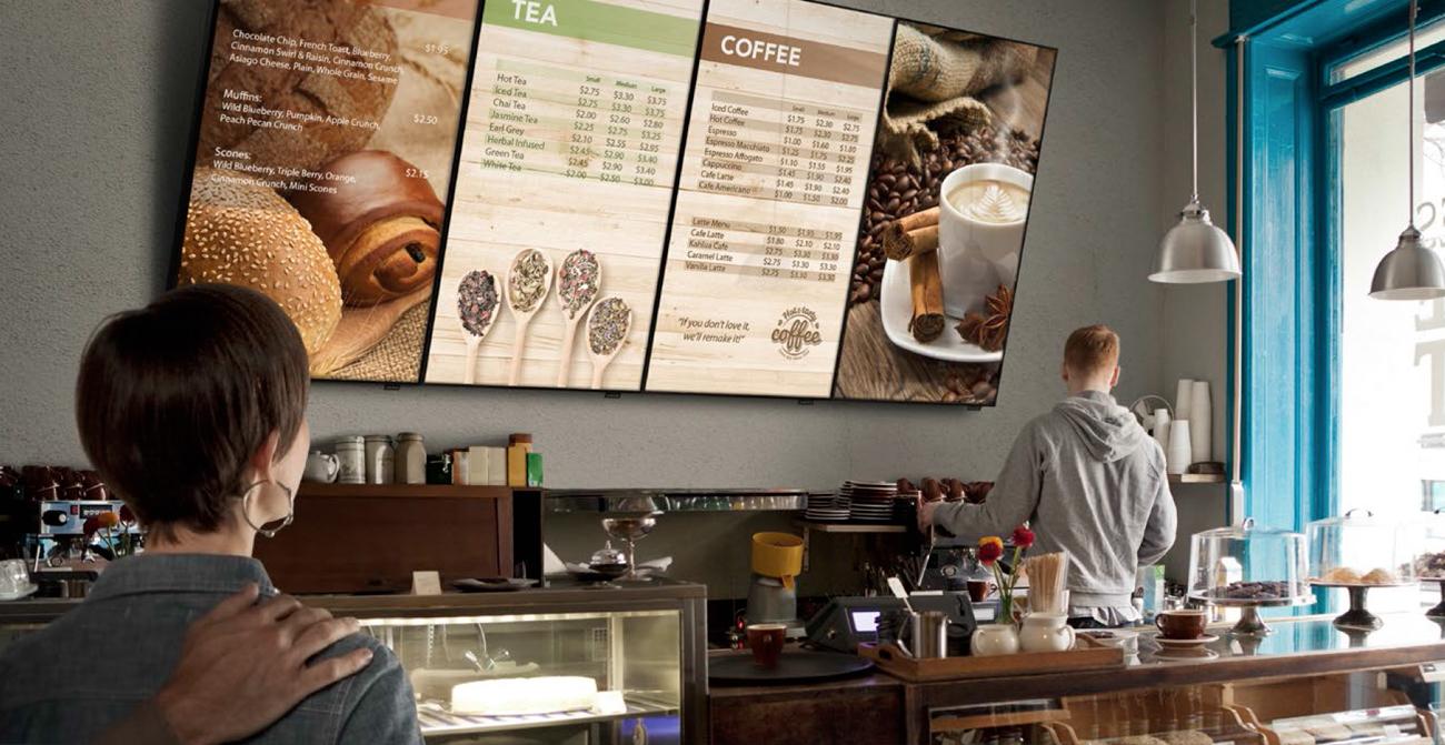 food and beverage digital signage