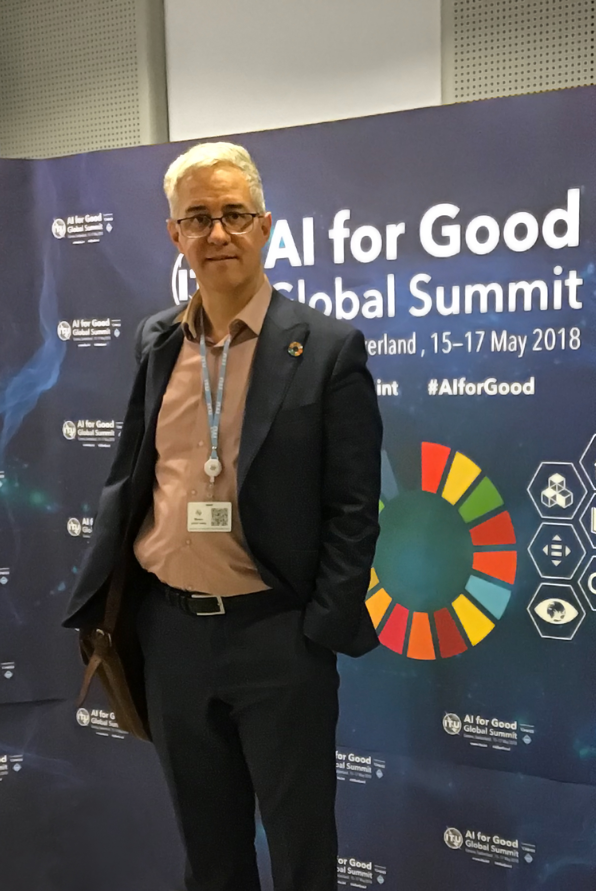Dr. Calvo at the second edition of the  AI for Good Global Summit   Photo: neuromimeTICs