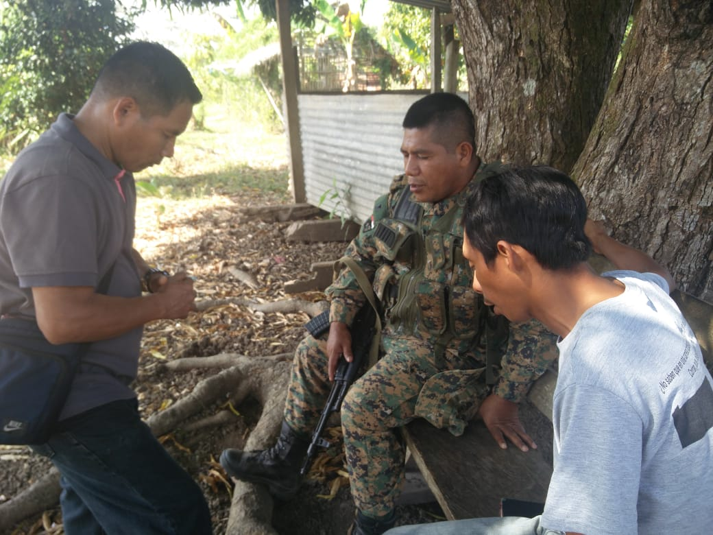 Praying with a border official