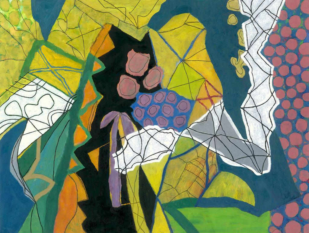 David Heathcoate, Botanical Garden, oil on board, 2007, 49 x 65 in cm.jpg