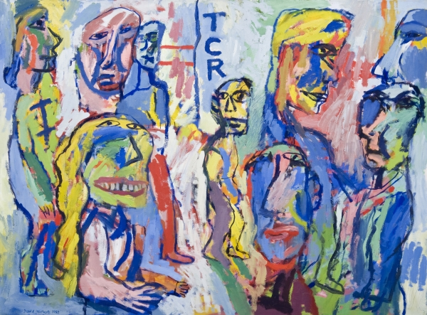 David Heathcote, TCR 1982, oil on canvas, 91 x 122