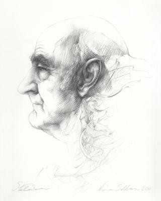 Nina Sellars, Stelarc, drawing, 2010