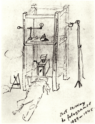 'Trick-table' 1929-45, for filming photograms, drawing c1950