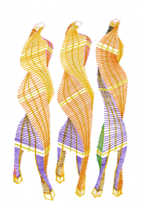 drawing (three graces), c1960s-70s