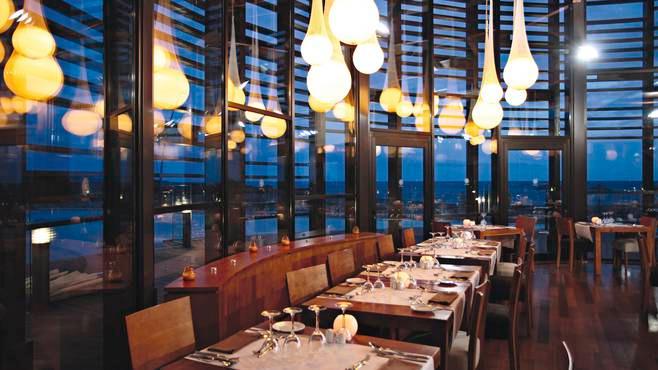 Dinner inside the hotel