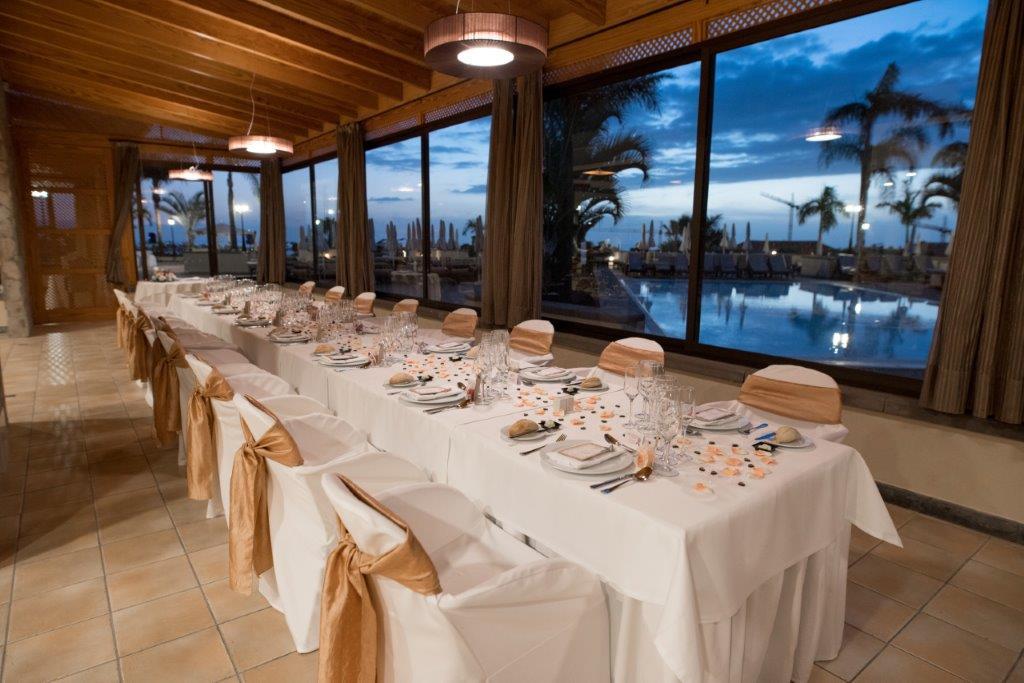 Dinner area inside