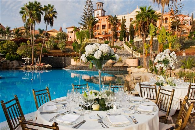 Dinner area prepared specially for your wedding
