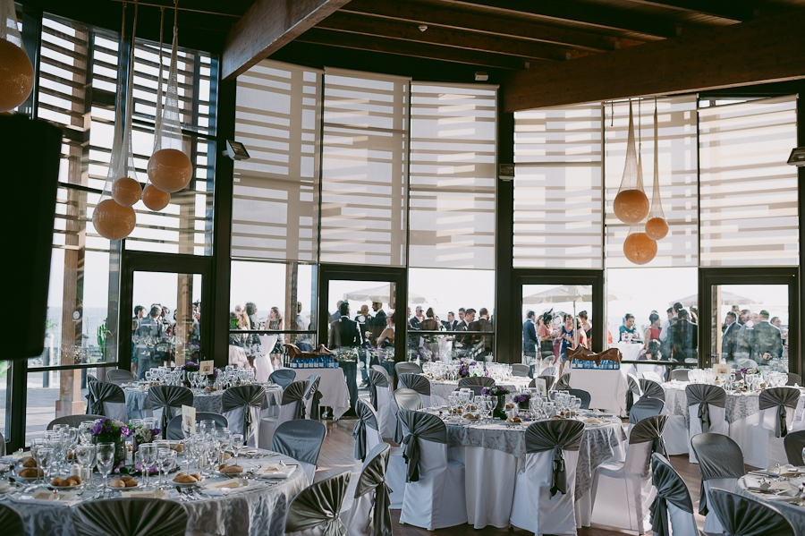 Inside restaurant dinner
