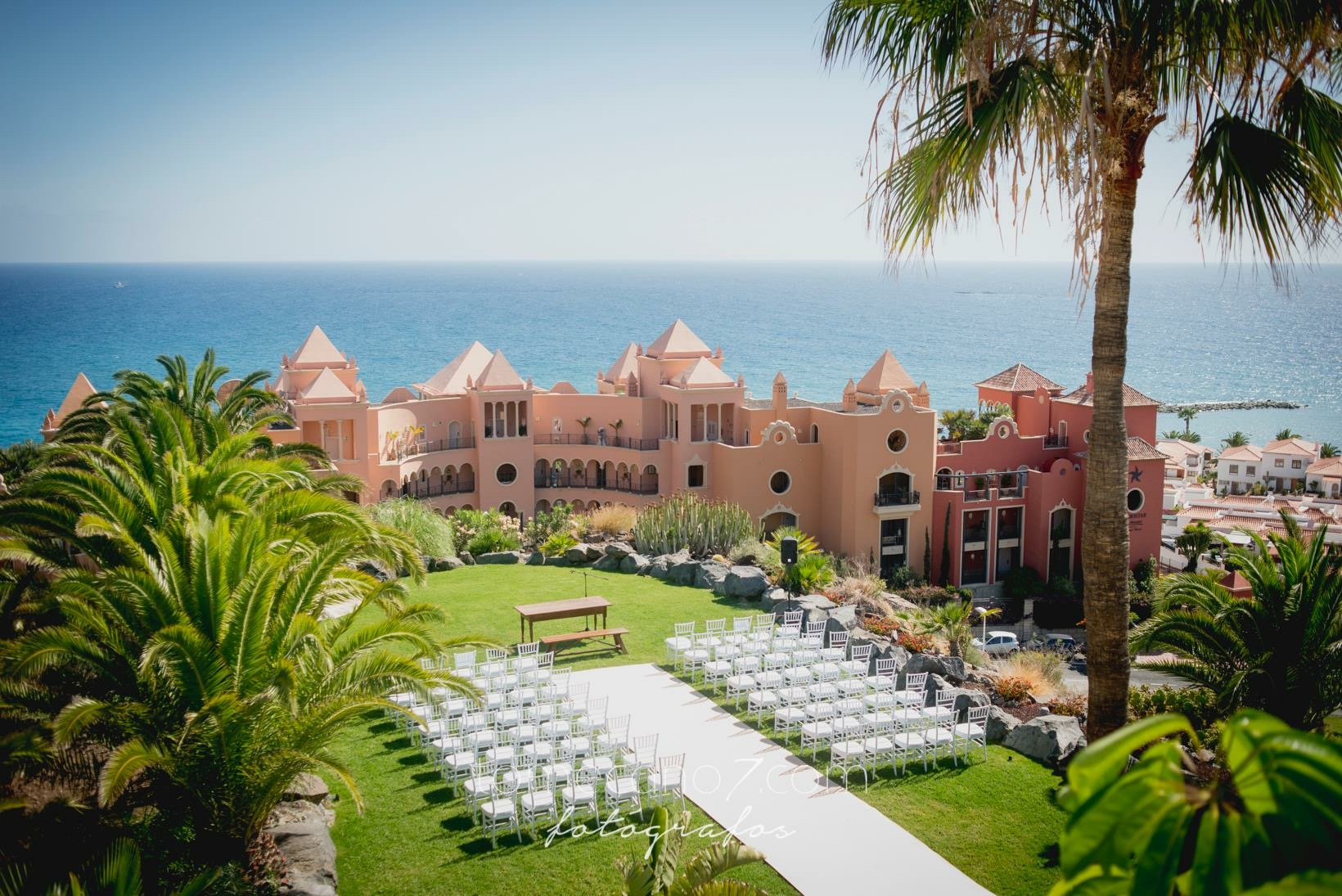 Ceremony with fantastic views