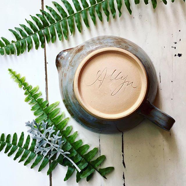 Signed, sealed, delivered.  #imyours #etsyshop #etsy #clay #clayisbae #madeintn #makersgonnamake #makersmovement #handmade #pottery #pottersofinstagram #cone6 #stoneware #madeinaskutt #wheelthrown #ceramics #choose901 #memphisartist
