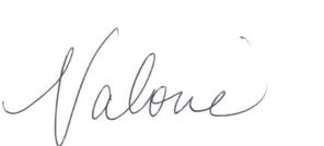 Valorie Hubbard Signature