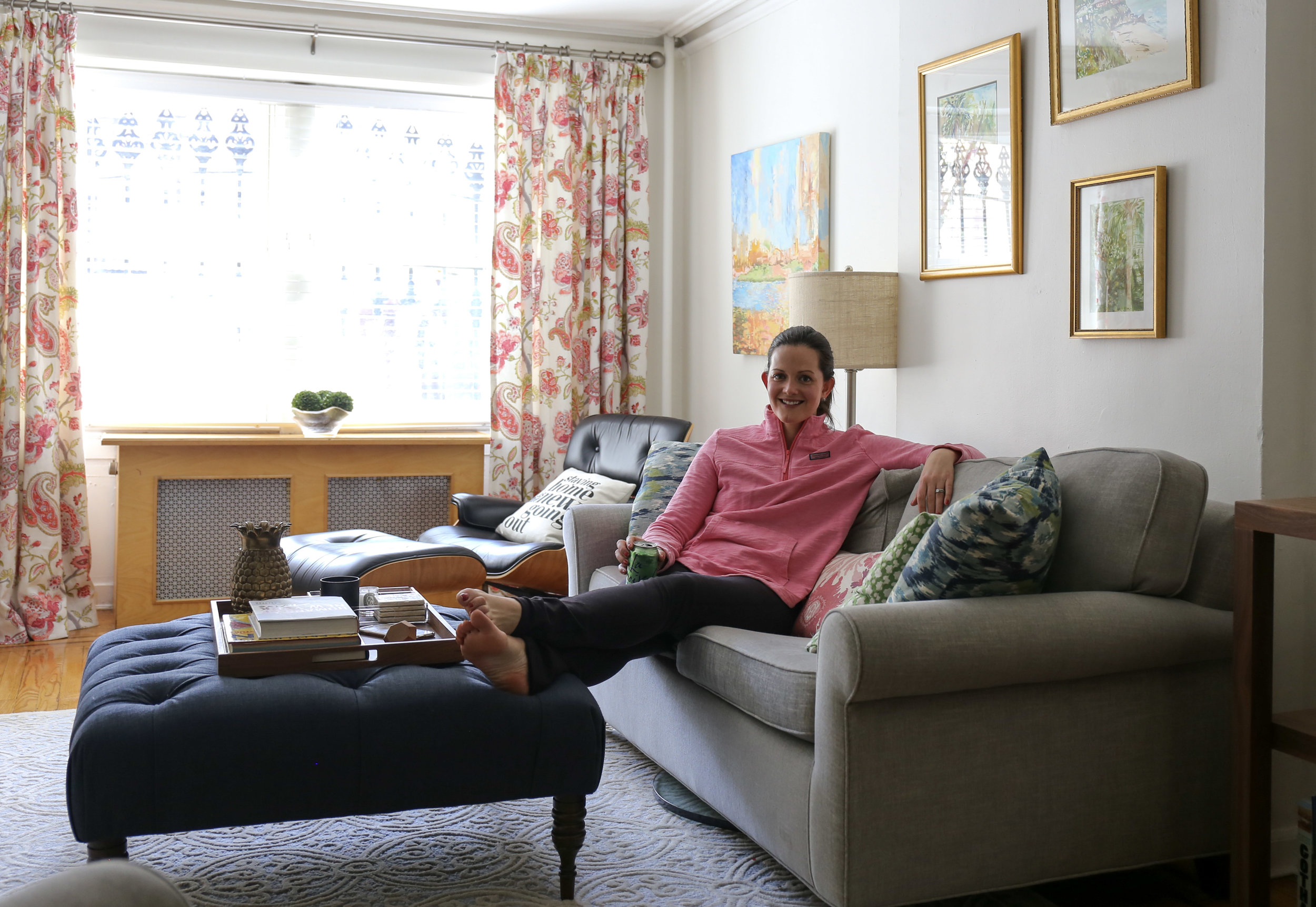 Ashley Diamond at home in Brooklyn