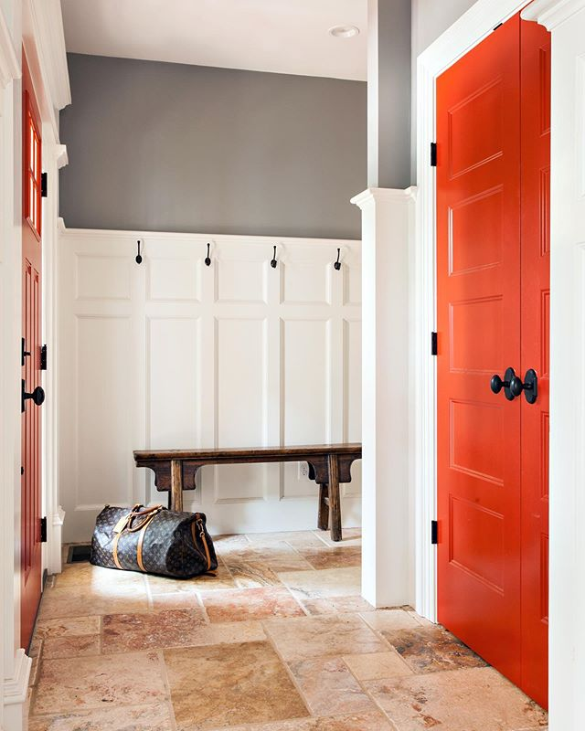 #reddoors #mudroom
