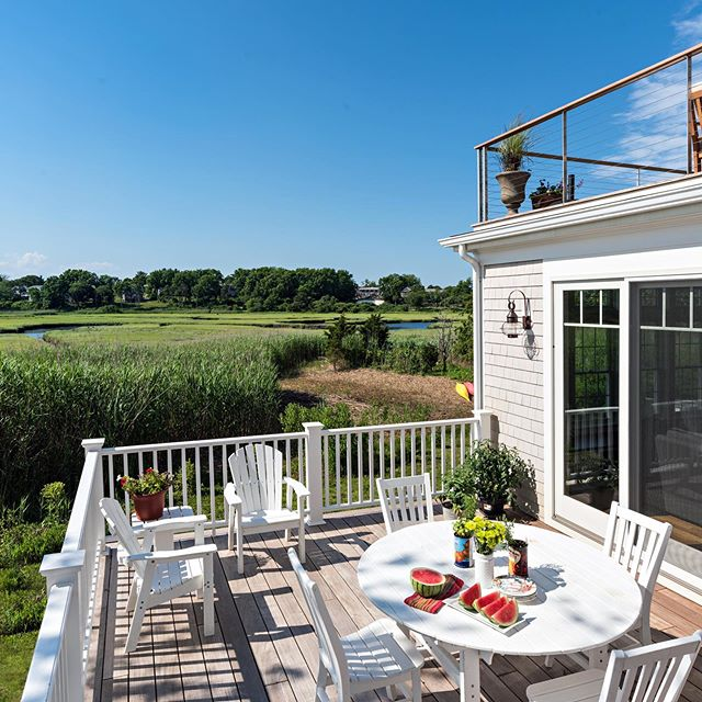 Nothing beats Enjoying  nice weather on Cape Cod  #capecodhome #capecodbuilder #saltmarsh #outdoorliving