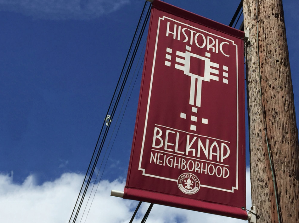 Street Banners - Here and there in our neighborhood, if you look up, you will see burgundy street banners that say Welcome to Historic Belknap, to signify to all passing through that this is a special neighborhood. More banners are needed. Are there a few neighbors who can recommend additional spots for banners, get them ordered, and/or make arrangements to get them installed? BNA covers the cost of banners.