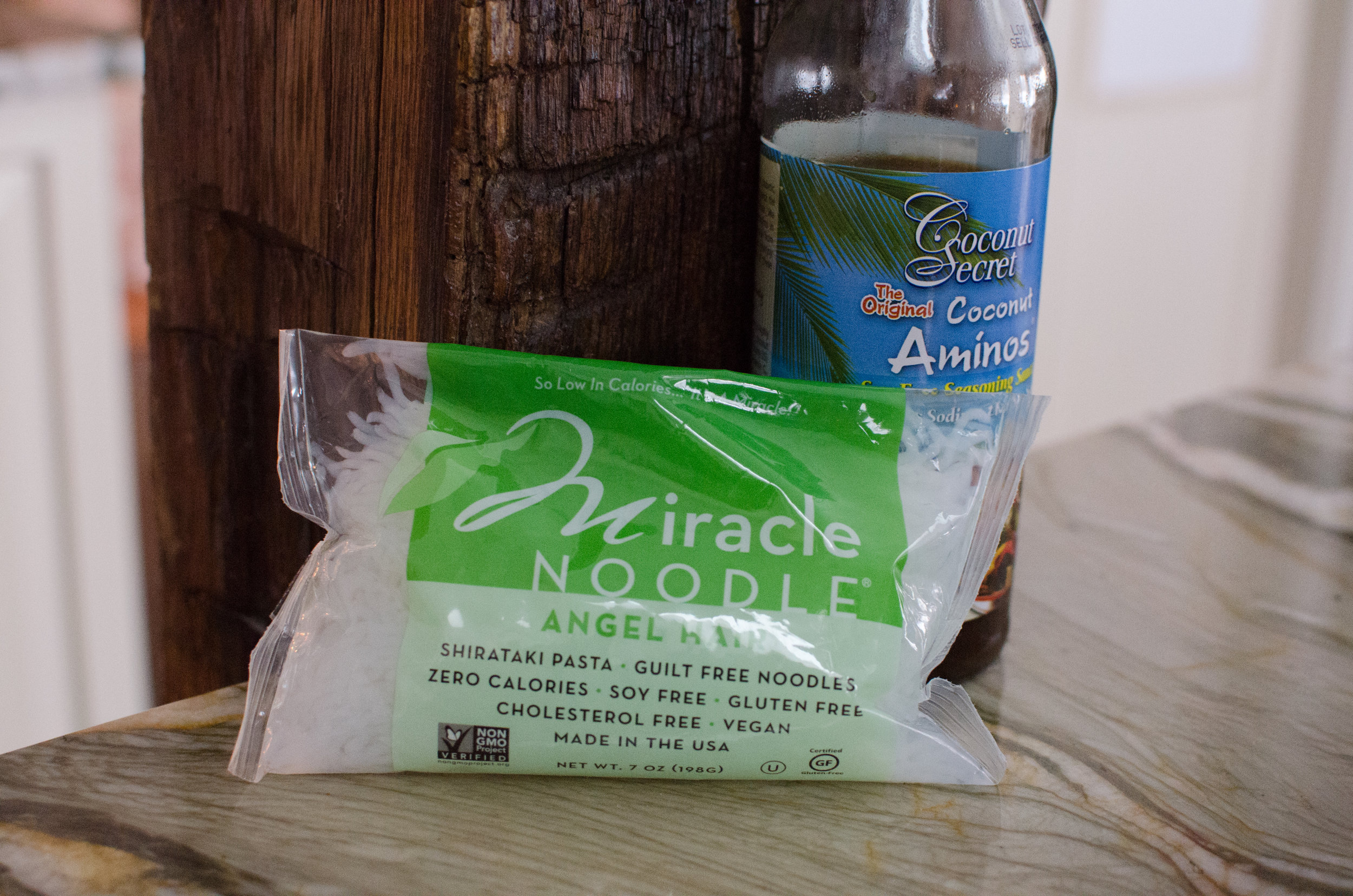 miracle noodle and coconut amino's by coconut secret