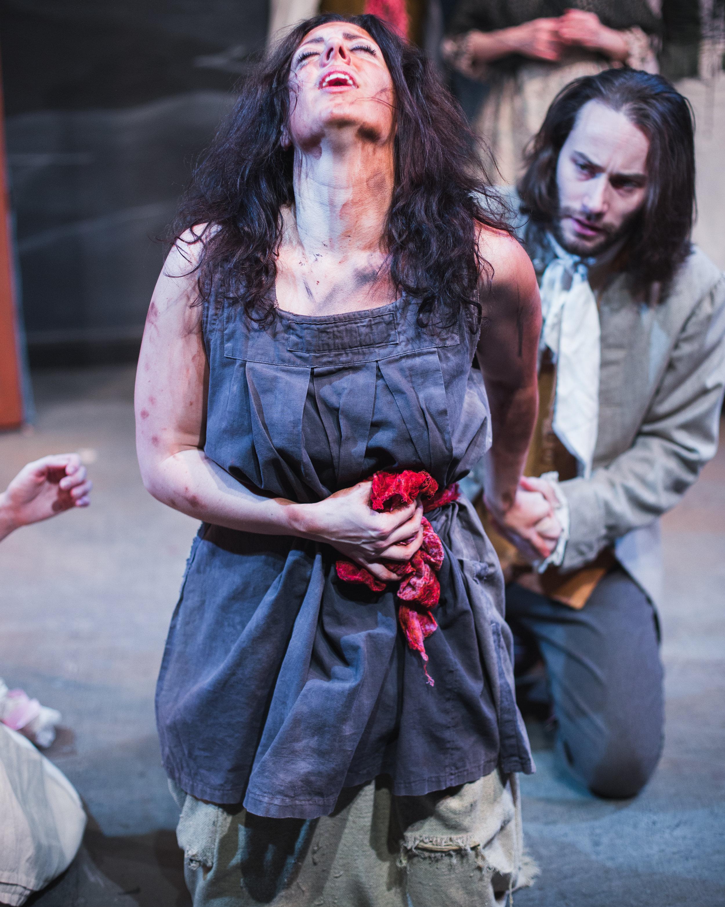 Regina Gibson in  Leah, the Forsake n at Metropolitan Playhouse