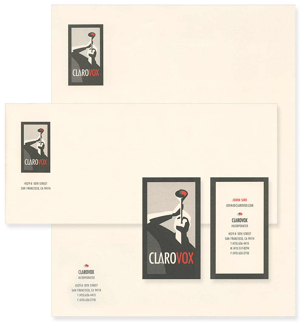 Helping to spread the word for Clarovox, a boutique design and marketing agency, through a stationery system that highlights their ability to help their clients speak with a clear voice.