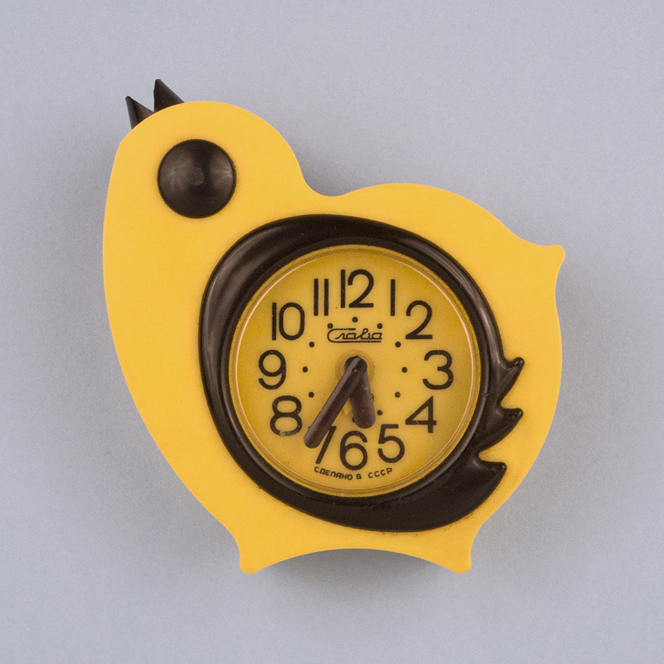 Alarm clock in the shape of a baby bird