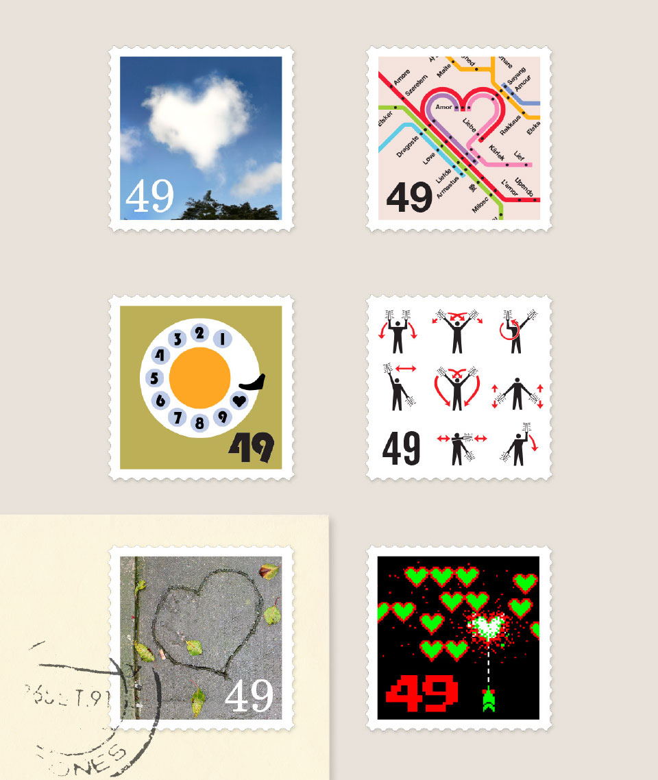 Design exploration for Apple iApps Love Stamps