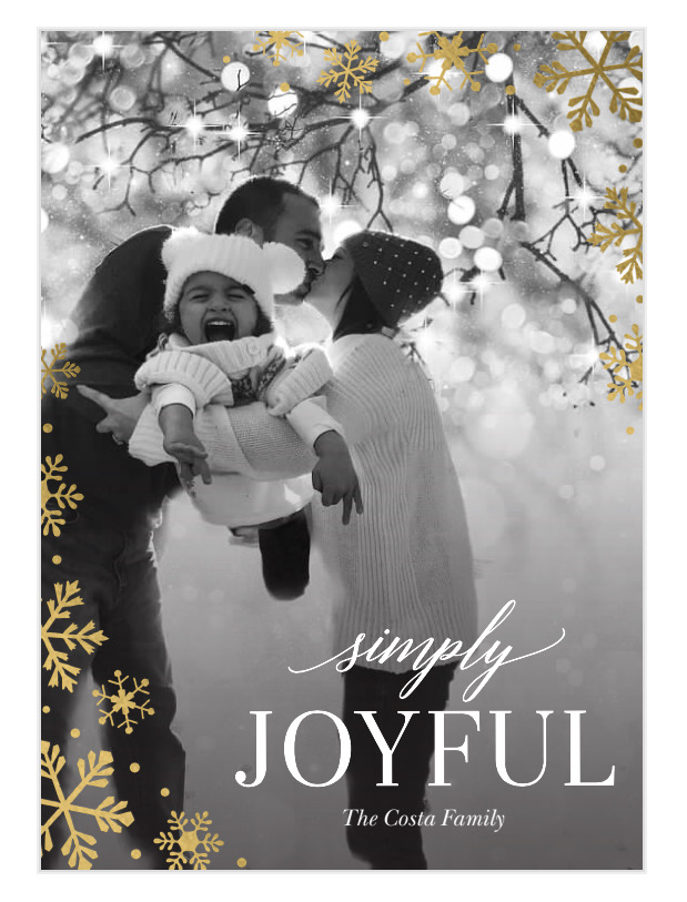 "Holiday Rorschach card - shrieks of joy, or toddler tantrum?  The ""happiest"" season of all!"