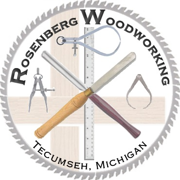 Rosenberg Woodworking, Tecumseh MI at the Great Lakes Woodworking Festival in Adrian, MI