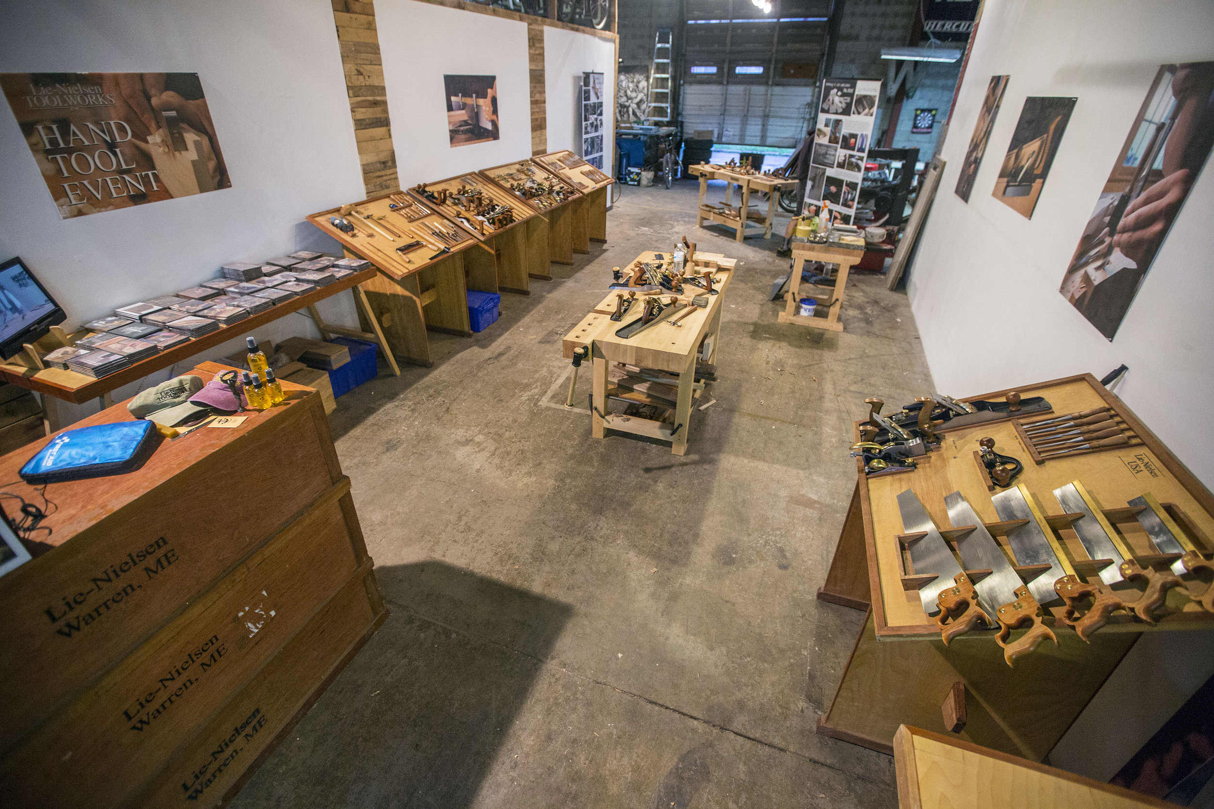 Lie-Nielsen Hand Tool Event at the Great Lakes Woodworking Festival in Michigan