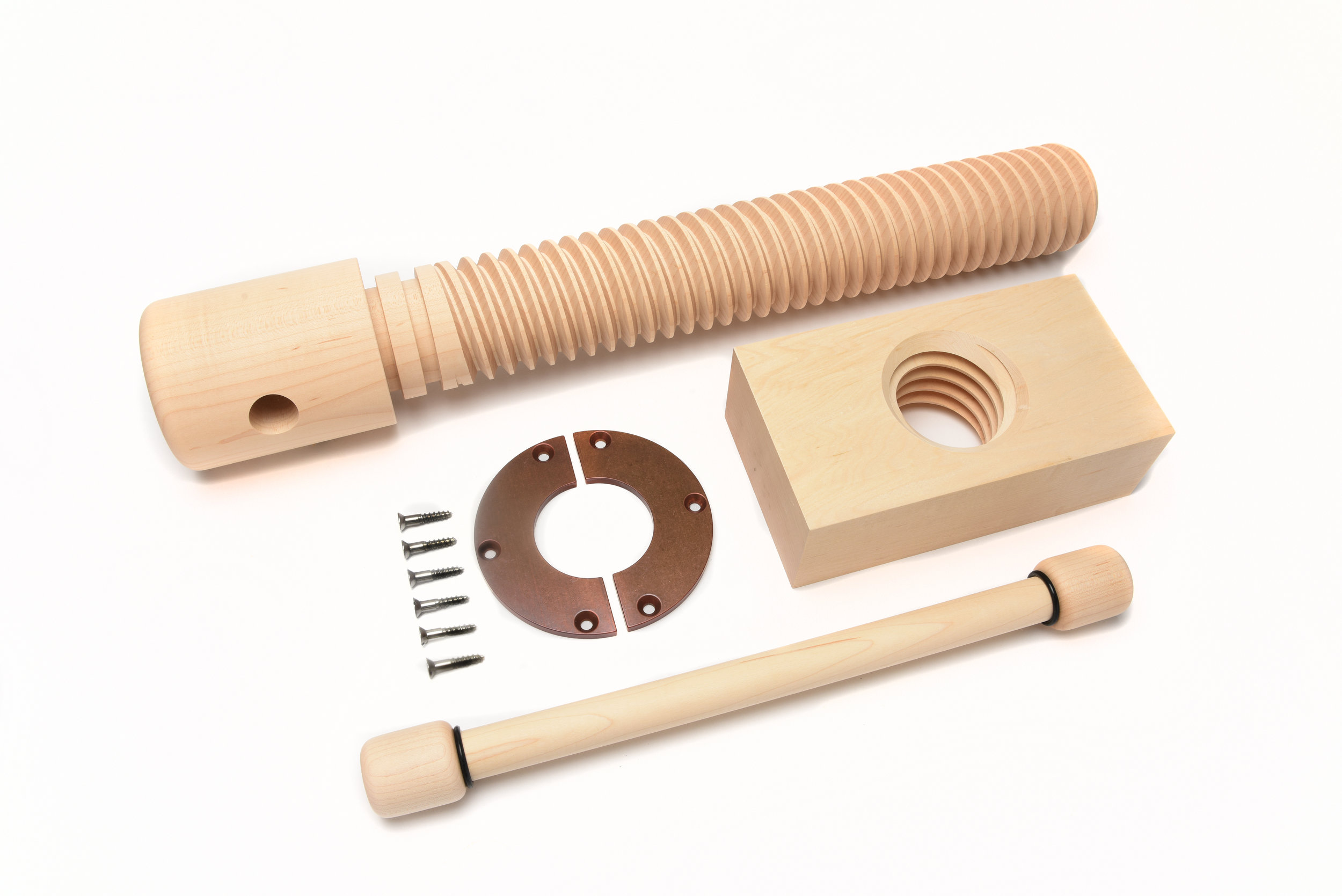 1005-001 - 2X Wood Vise Screw Premium Kit -Vintage Finish.jpg