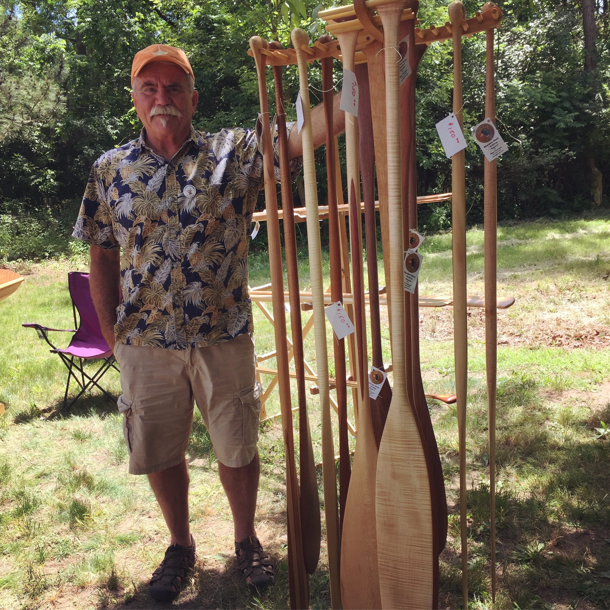 Canoe Mike Thomsen of Thomsen Boats at the Great Lakes Woodworking Festival