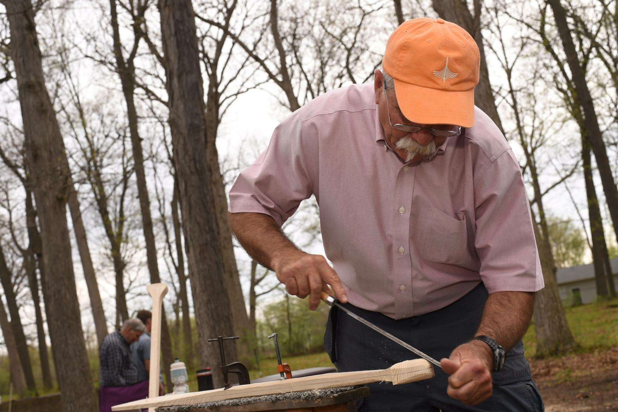 "Canoe Paddle Demonstration with ""Canoe Mike"" Thomsen"