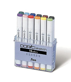 3A: Copics - I love these markers. I think they are the best for rendering and modeling shapes. They sell refills so if a marker runs dry you can refill it, which I do all the time for my greys. They also sell replacement tips, so if the tip wears out you don't have to replace the whole marker. There's also over 350 colors so your bases are covered there.I'd start with a basic set like this: