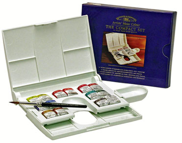 5B: Winsor & Newton Professional Water Color Compact Set - I love this little travel set. It's great on the plane, or while sketch crawling through a city. I have an older model than the one pictured, but this one looks legit.