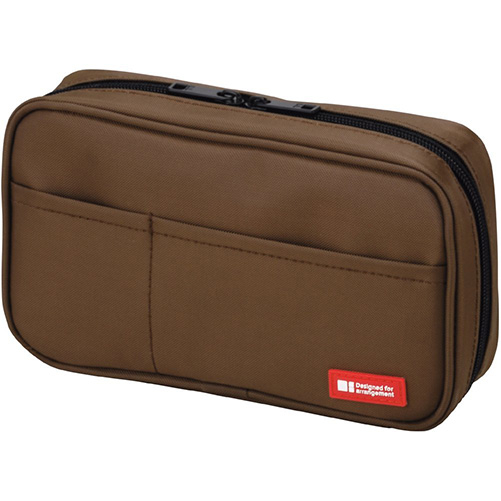 9A: LIHIT LAB Pen Case, Brown - This case is deceptive. It holds about twice as many pens as it looks like it should hold. There's pockets and flaps. Everything you need and want in a case to keep pens organized and transported safely. I take this on all trips and it's never let me down.I can fit about 10 Copics, 4-5 brush pens, an x-acto knife, 4 pencils, a kneaded eraser, a regular eraser, and my white out tape. Not bad, eh?