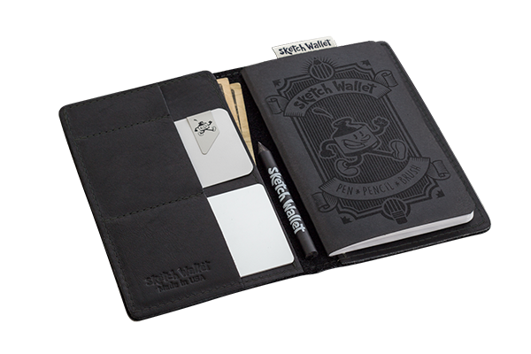 9C) The Sketch Wallet - Pretty handy to have around if you spend a lot of time out and about and you need something to draw on. It's just the right size for a little drawing, or notes, or sketching that interesting looking old man on the train.