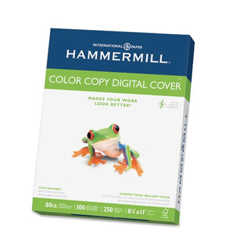 10A: Hammermill Color Copy Digital Cover, 80 lb, 8 1/2 x 11  - It has a smooth finish that's great for inking and markers. Also, works well in my printer. Warps with watercolor.