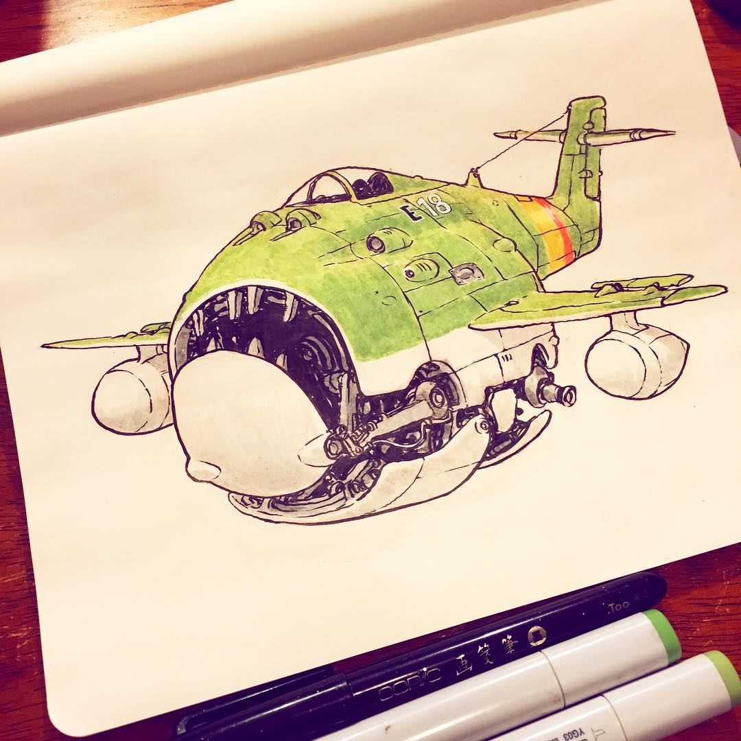 he Emerald City Air Squadron defends the city from all enemies, foreign and domestic. I drew this in anticipation of Emerald City ComicCon. Every year before I go I do some kind of Emerald City themed drawing.