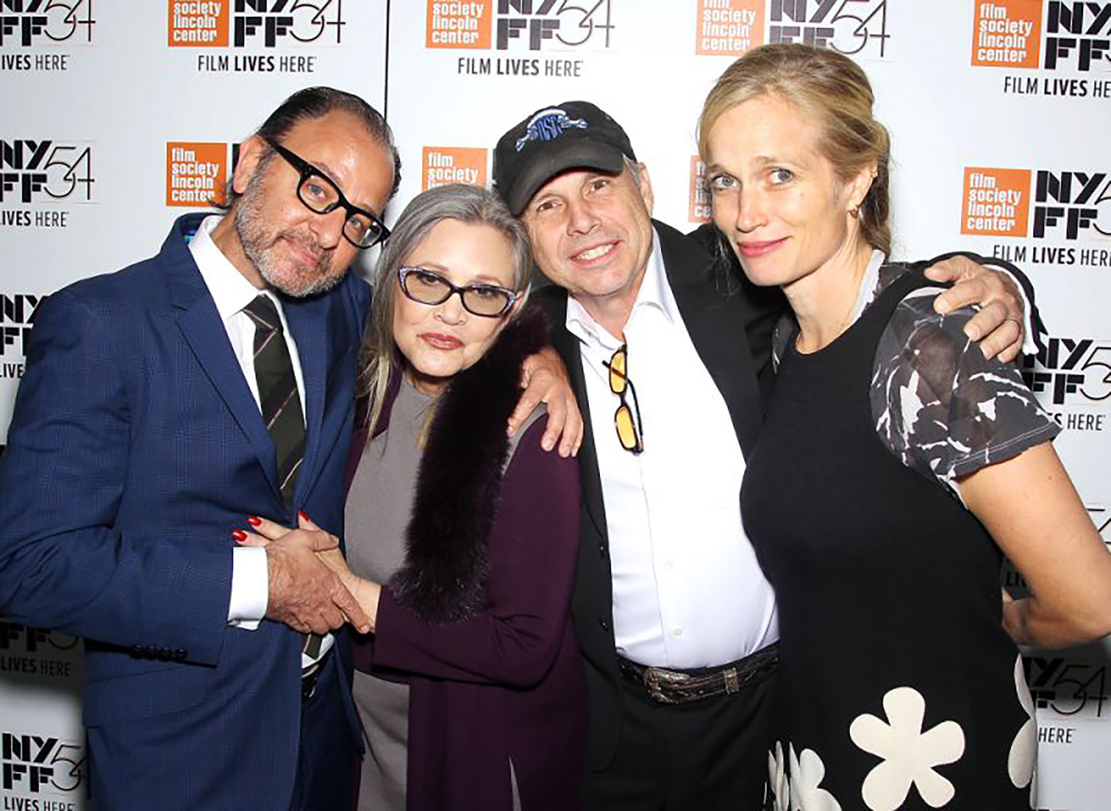 "FISHER STEVENS, CARRIE, TODD AND ALEXIS BLOOM AT THE NYC FILM FESTIVAL FOR ""BRIGHT LIGHTS"""