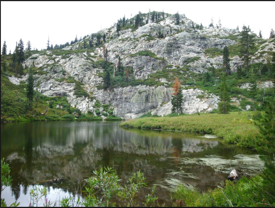Little Castle Lake   Little Castle Lake is aptly named. It is a little version of Castle Lake both having impressive granite headwalls.
