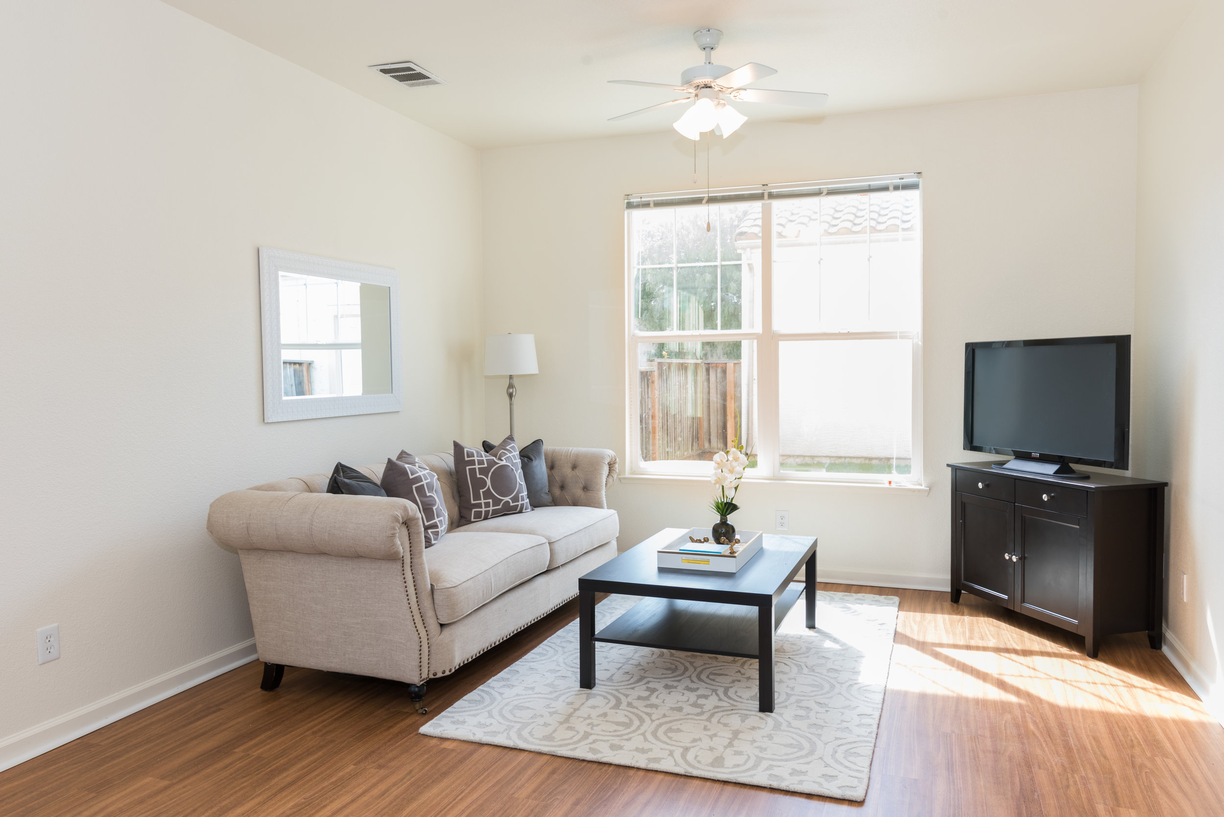 Family Room in Rental Home