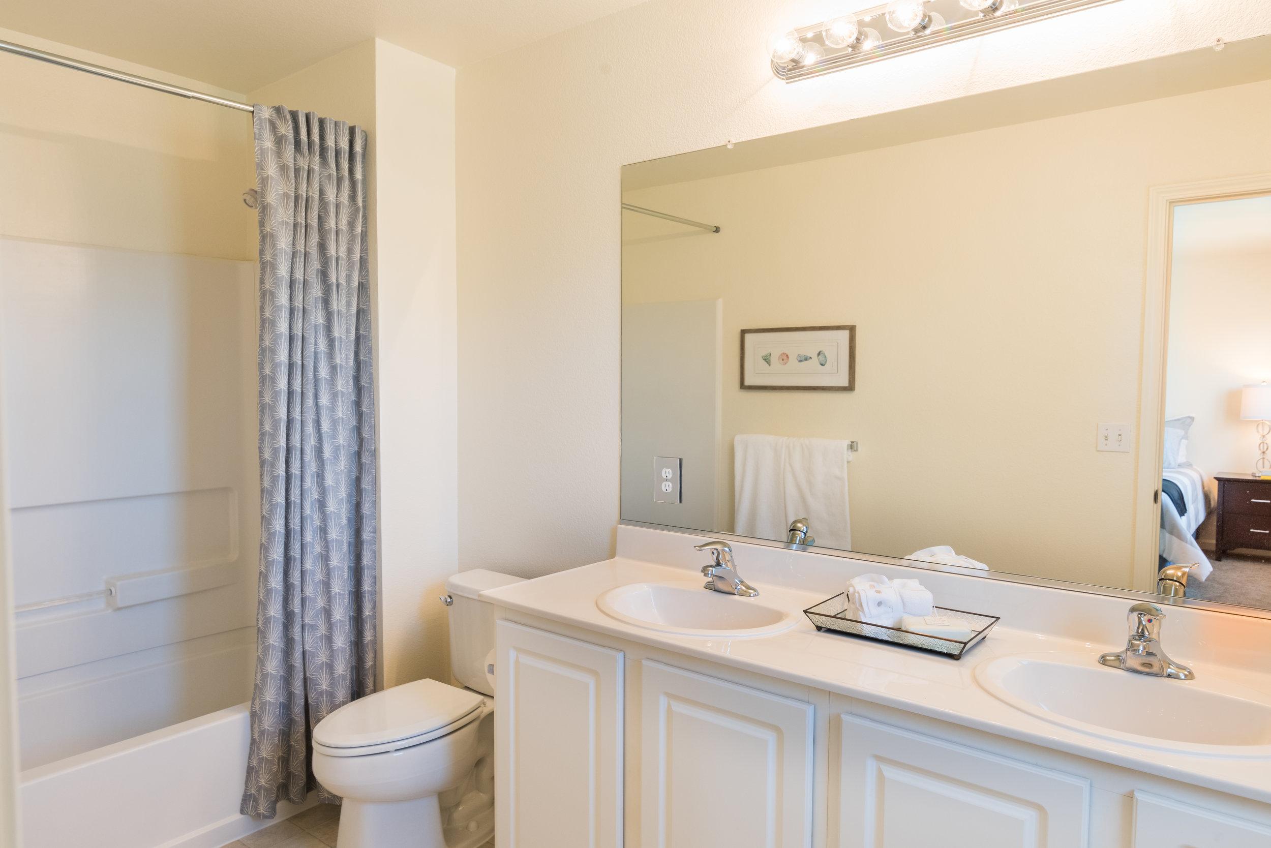 Master Bathroom in Rental Home