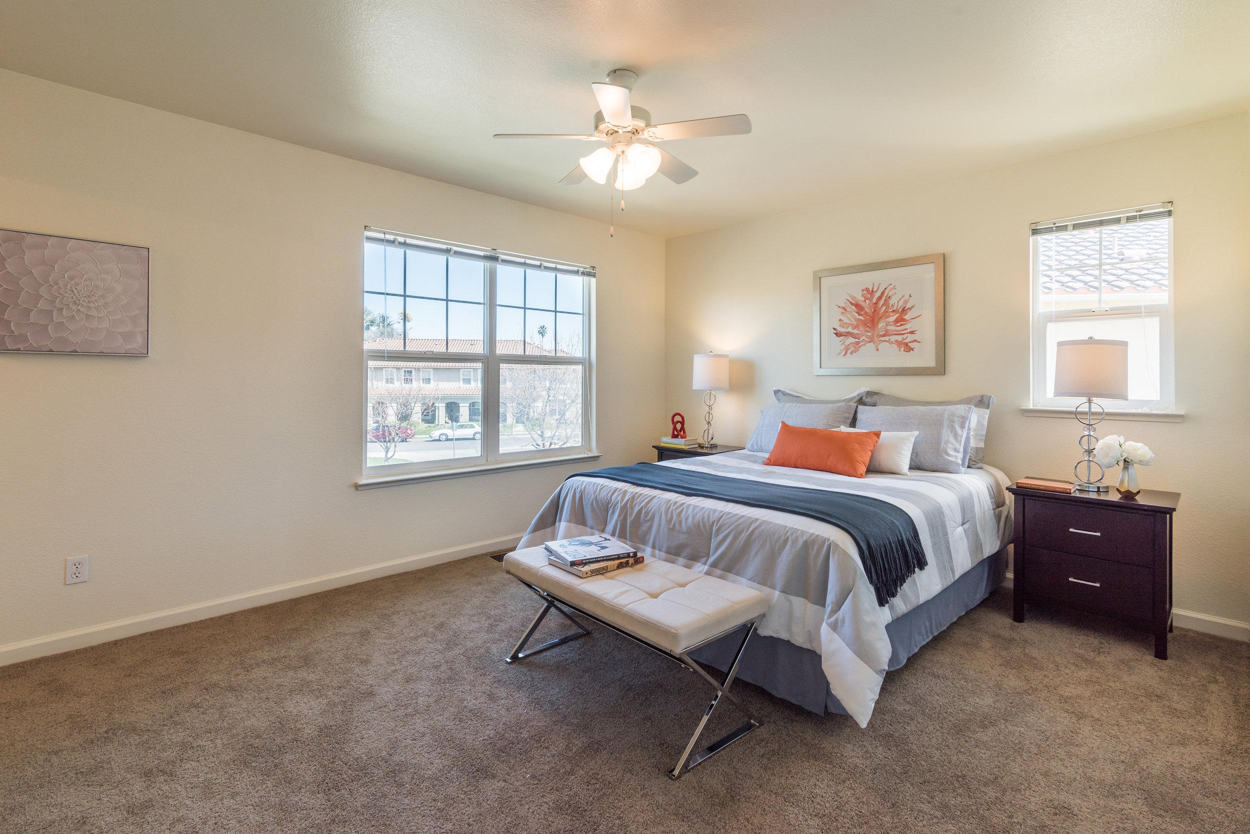 Master Bedroom in Rental Home