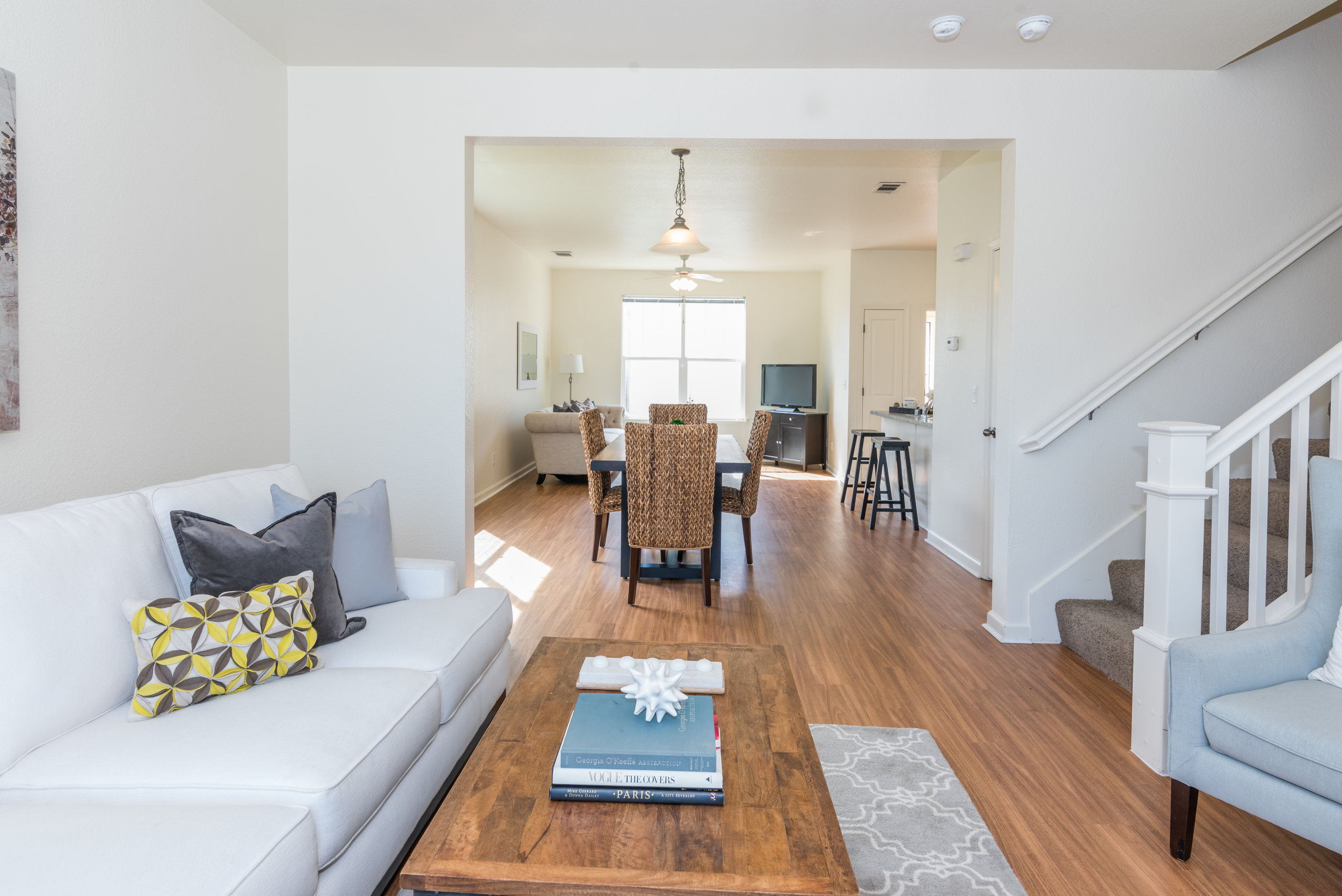Living and Dining Room in Rental Home