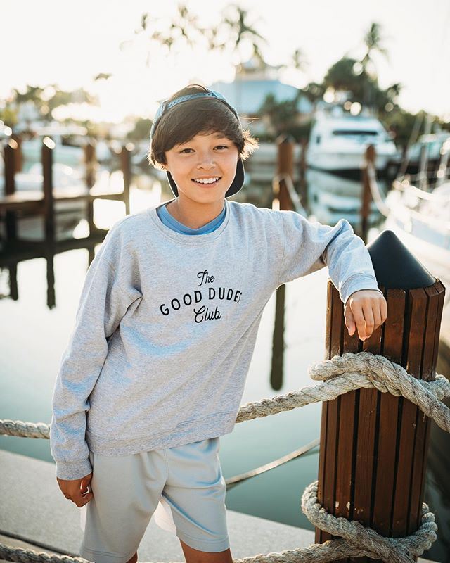 + Favorite 12 year old + Favorite place + Favorite sweatshirts Perfect for after an evening out boating 🚤