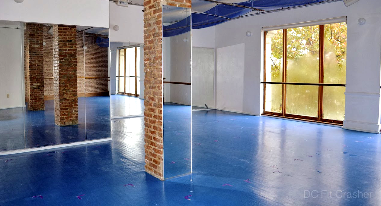 light-filled yoga room