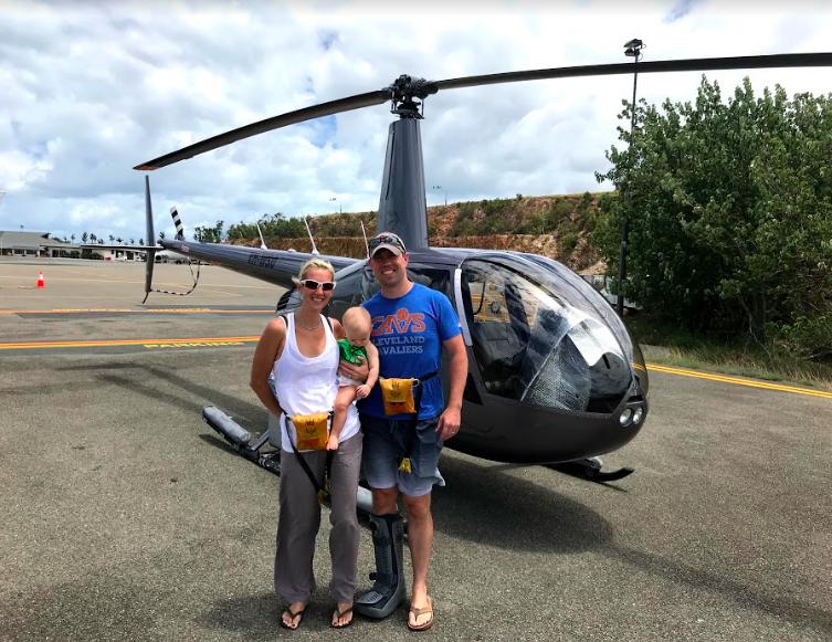 Kelly, John & Scarlett - Hamilton Island, Australia. They're always ready for any flight adventures!