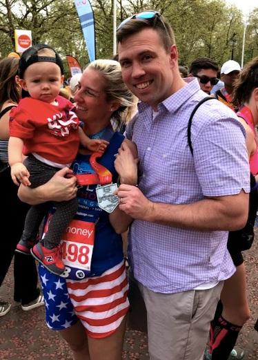 Spectator extraordinaire John McLay, FIT Founder Kelly & baby Scarlett!