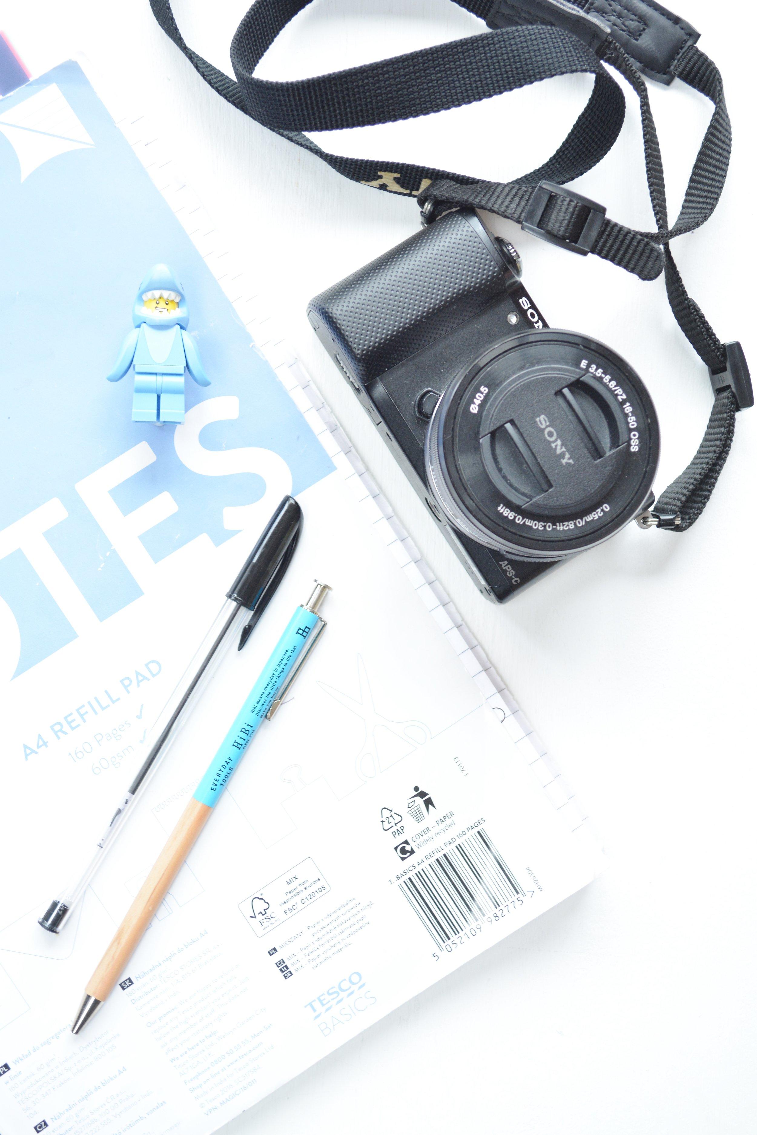 Current Everyday Blogging Items.JPG