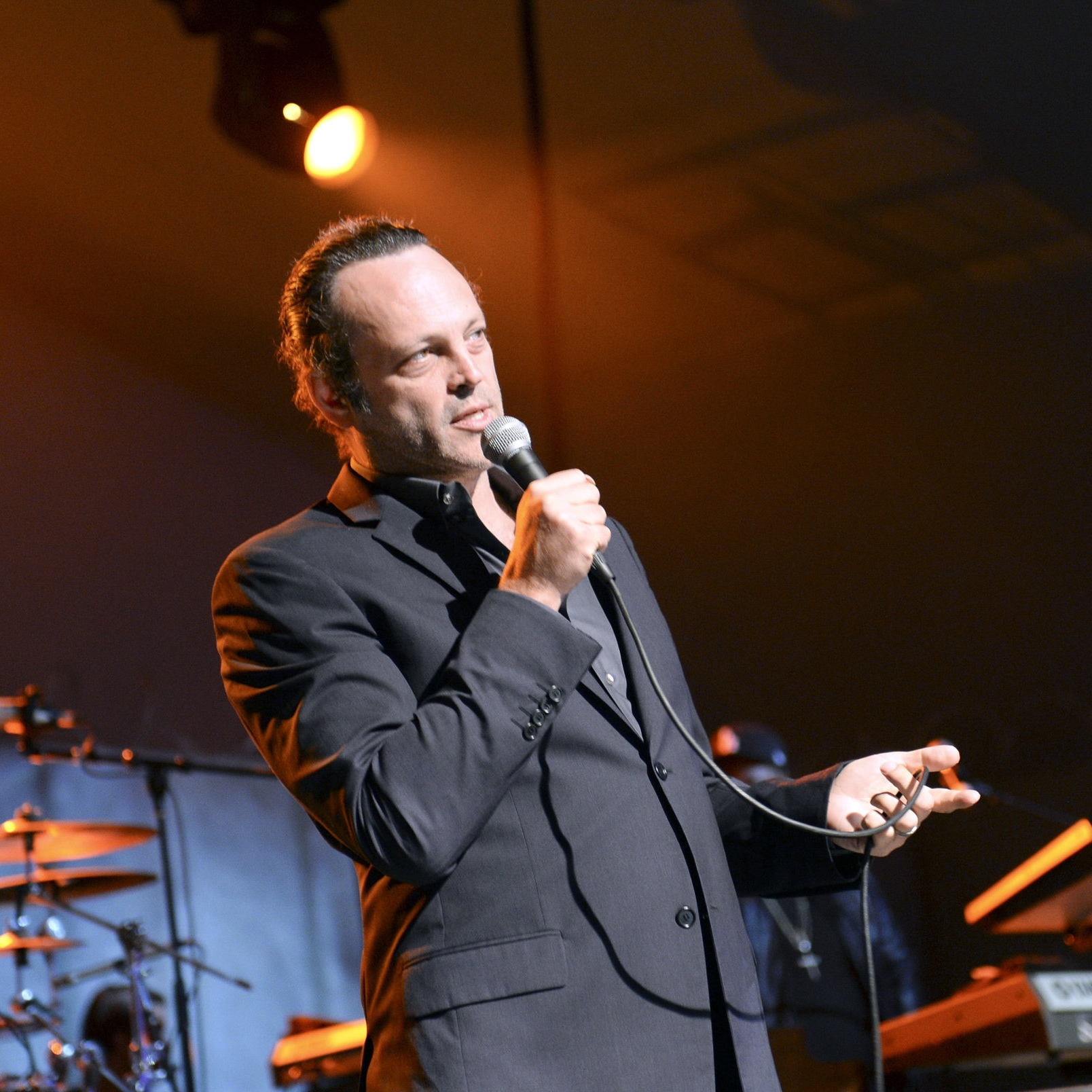 Vince Vaughn on stage at private event