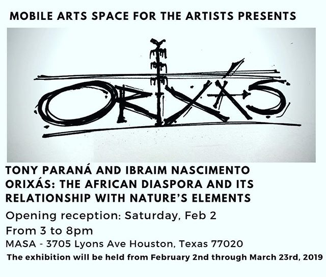 """Orixás""  The African Diaspora and its Relationship with Nature's Elements. The exhibition will be part of the Latino Arts Now (LAN) 2019  Opening reception: Saturday February 2nd, 3-8pm @ibraimnascimento @tonyparana @latinoartnow"